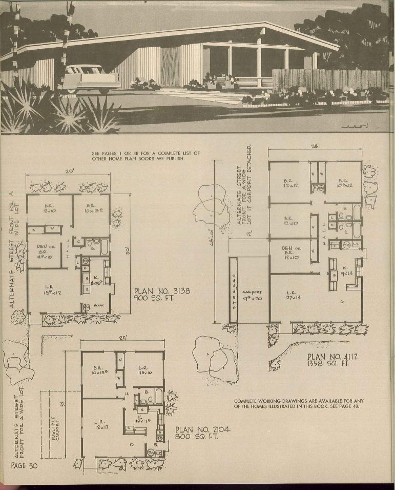 Prize homes Hiawatha TEstes 1969 Retro House Plans Pinterest