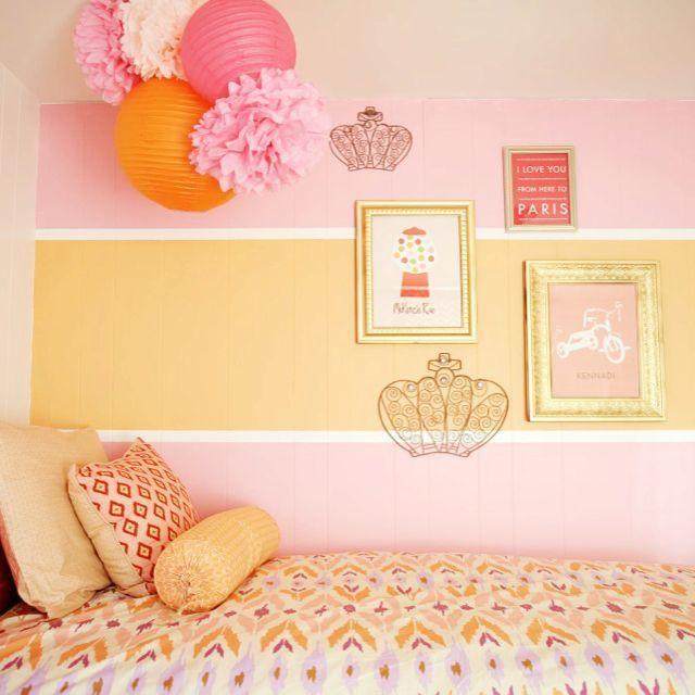 Fresh Kids Room Color Combo: Pink & Orange in 2019 | Katie\'s yellow ...