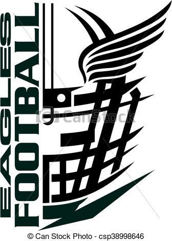 vector eagles football stock illustration royalty free rh pinterest co uk oakland raiders clipart oakland raiders clip art free