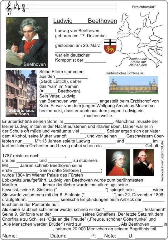 ludwig van beethoven lebenslauf curriculum vitae of beethoven - Beethoven Lebenslauf