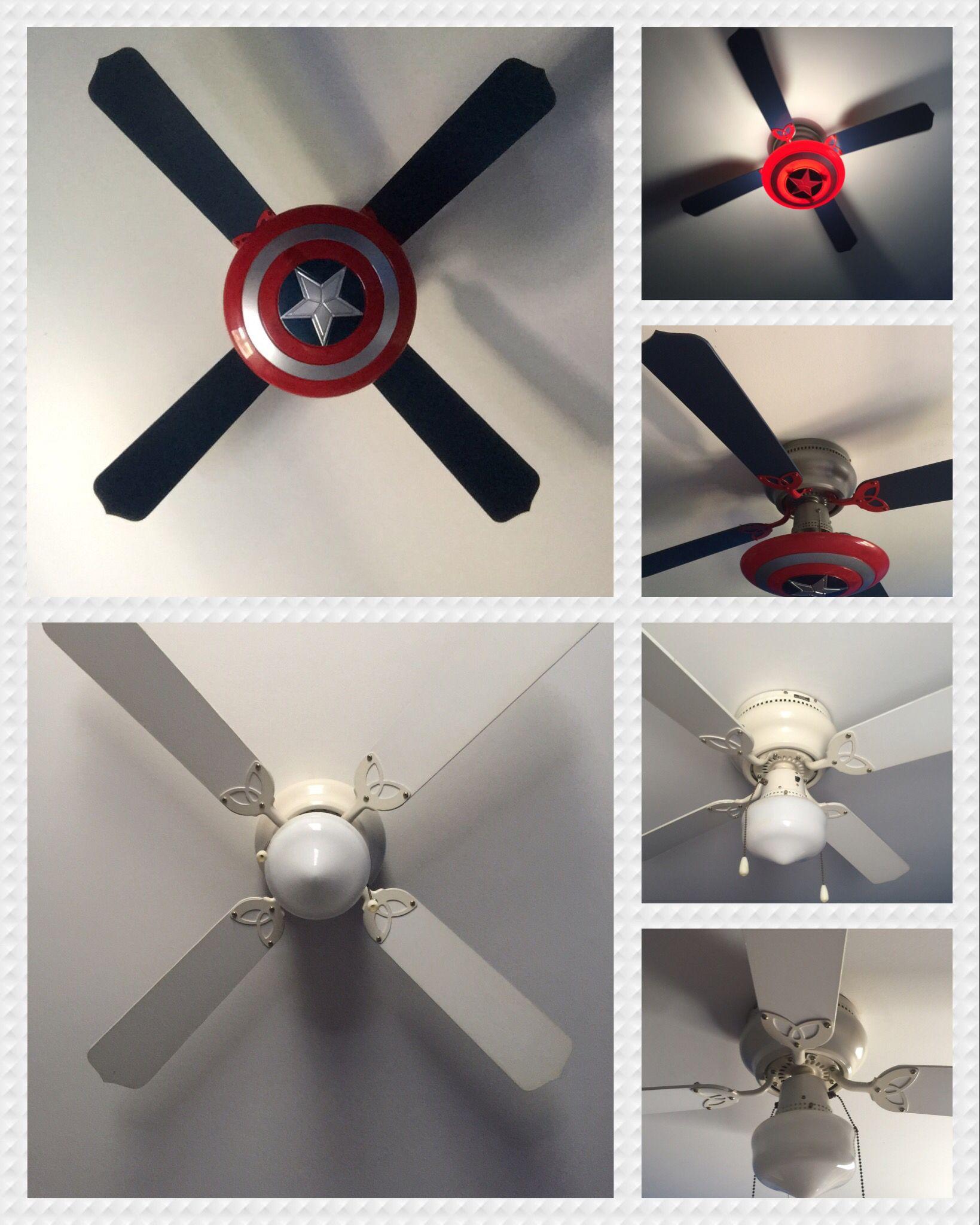 Captain America Ceiling Fan Avengers Room Boys Room Decor