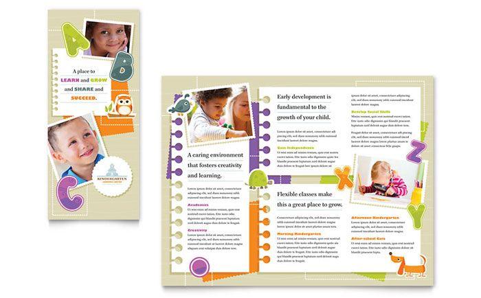 Kindergarten Tri Fold Brochure Design Template by StockLayouts ...