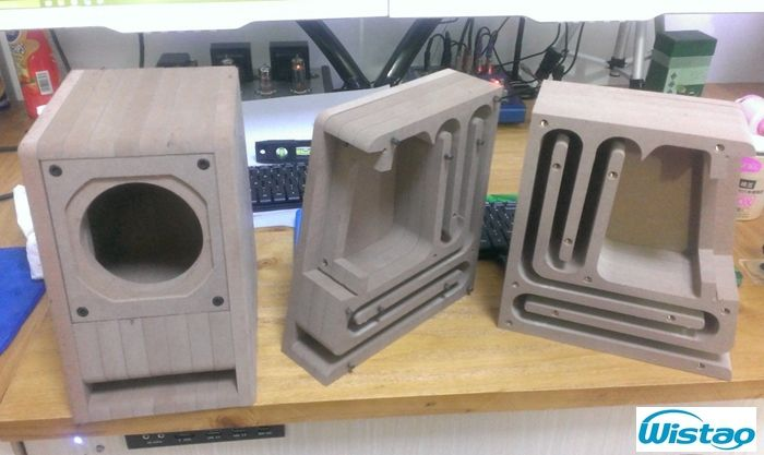 HIFI Speaker Empty Cabinet Kits Labyrinth Structure With