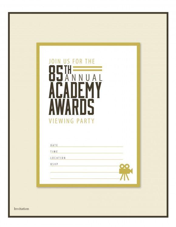 Free Printable Oscar Party Invitations Oscarparty Invitations