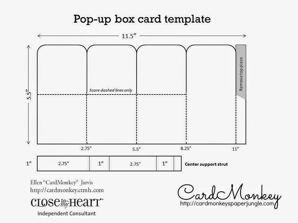pop up card template