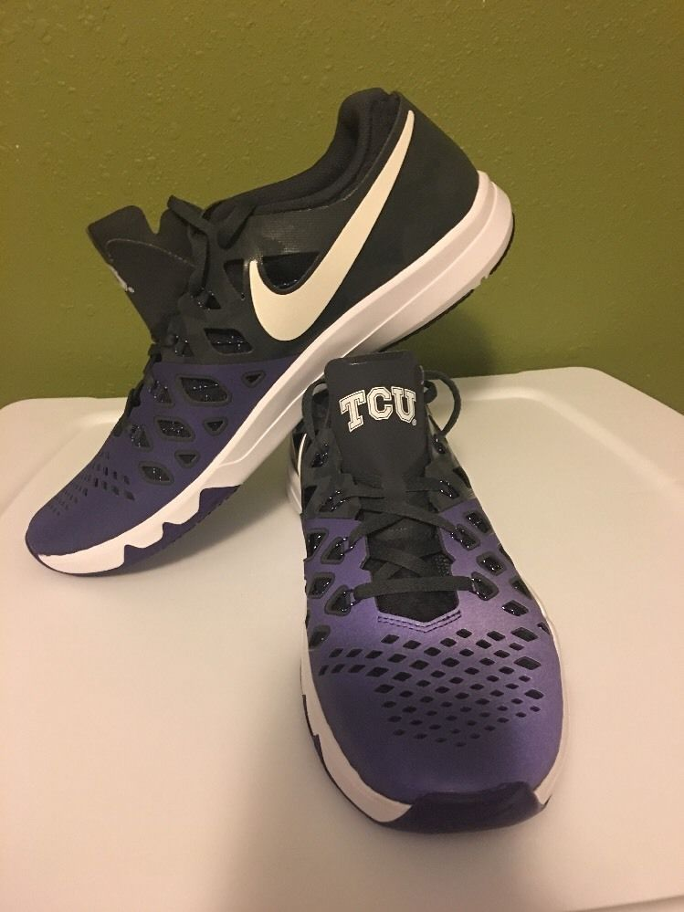 sale retailer 6fcd1 3ad59 Men 039 s Nike Free Trainer 5 0 V6 Amp TCU Horned Frogs Team Shoes Size 12  New   eBay