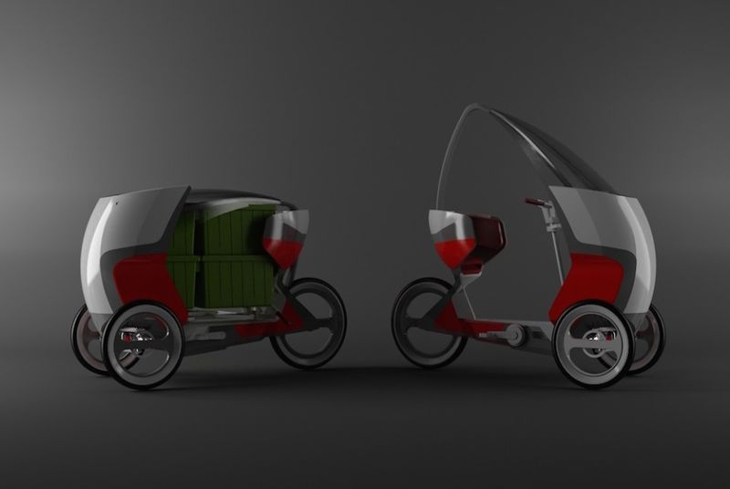 Autonomous Adult-Sized Tricycles : pedal-powered tricycle