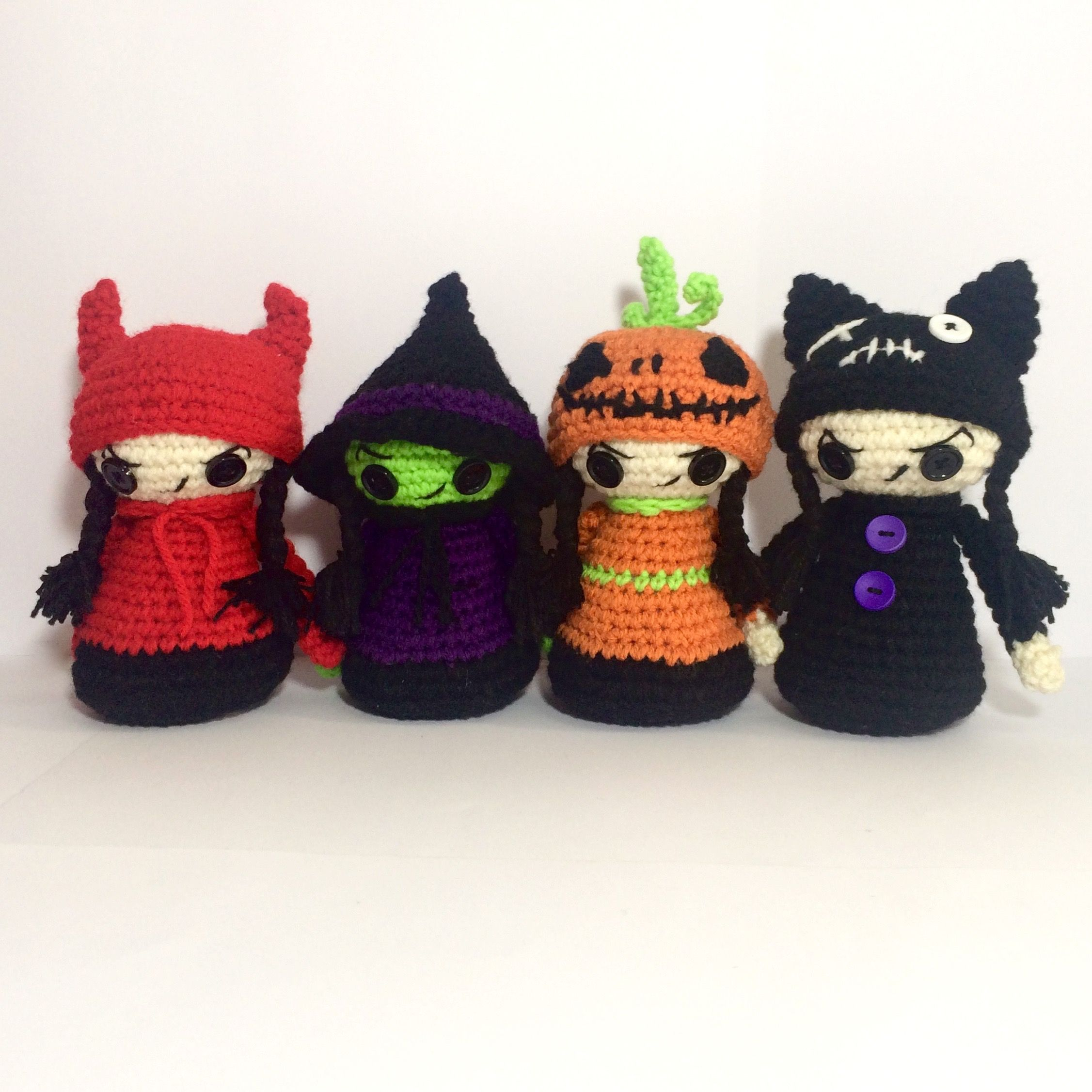 CROCHET PATTERN Halloween, Crochet pattern Christmas, Halloween doll ...