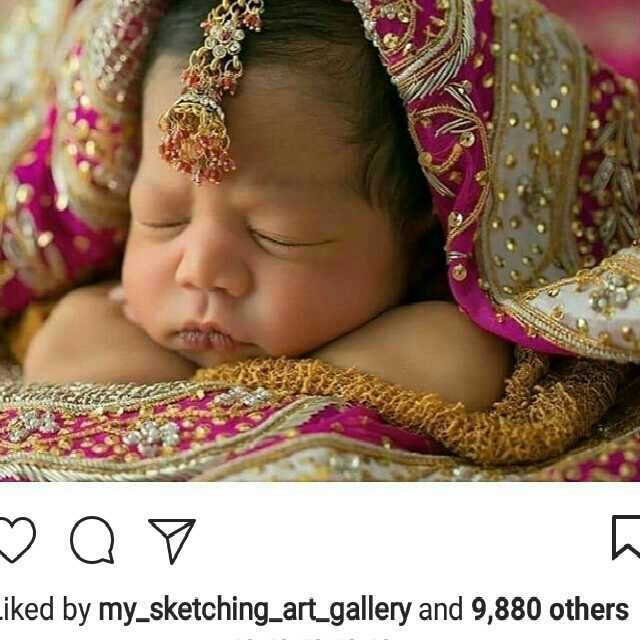 Newborn Indian Baby Swaddled In Mothers Wedding Sari Newborn Photography Girl Baby Girl Photography Indian Baby