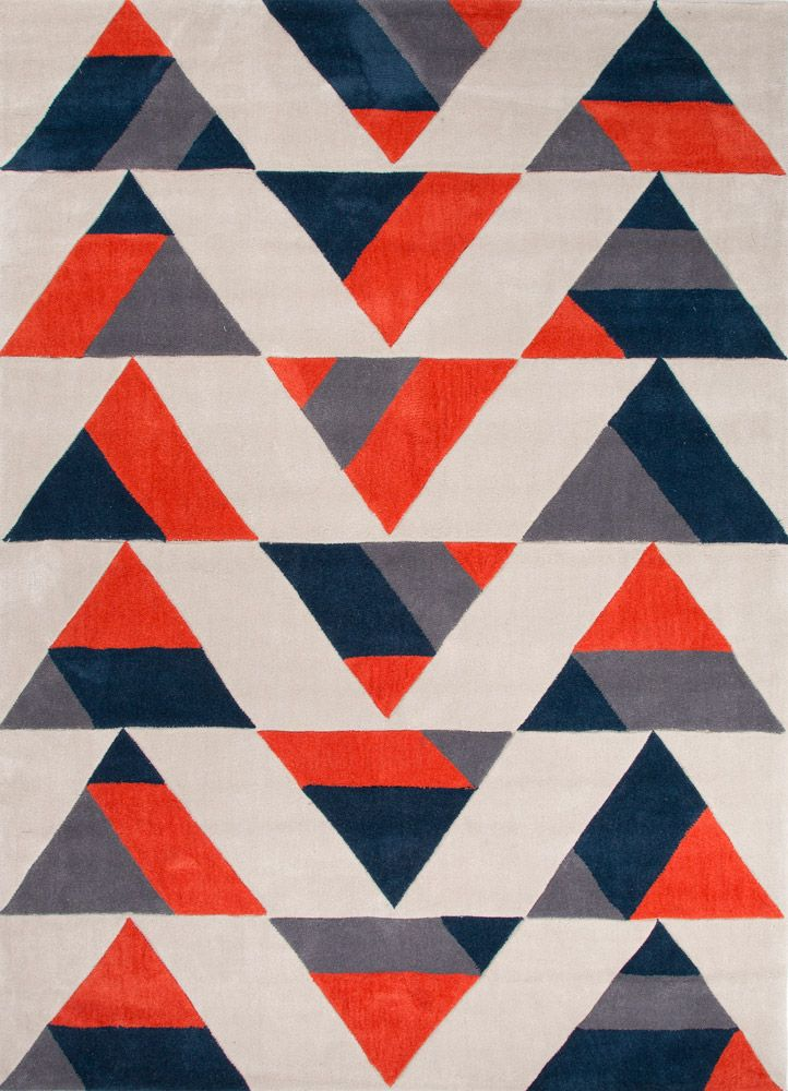The Tonal Colors And Geometric Pattern Of Our Teeter Rug