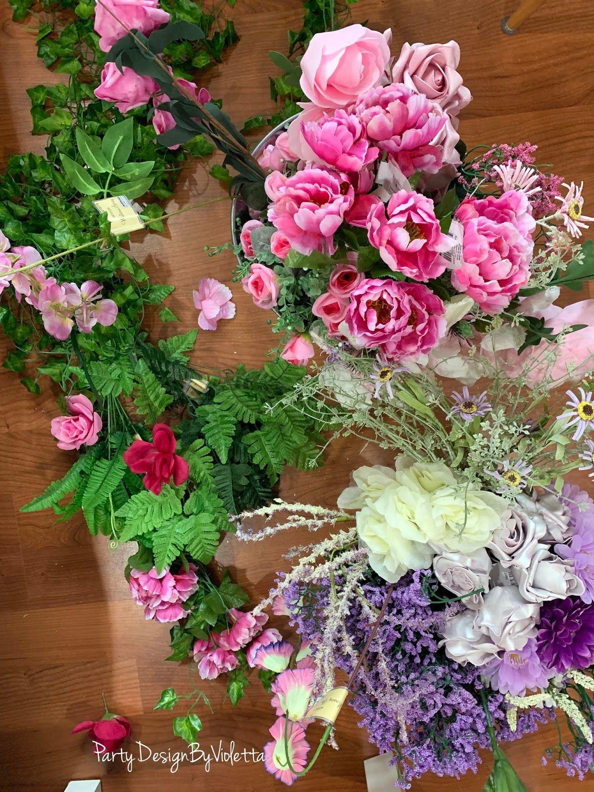 A Parisian theme backdrop Ohlala DIY Flower garland
