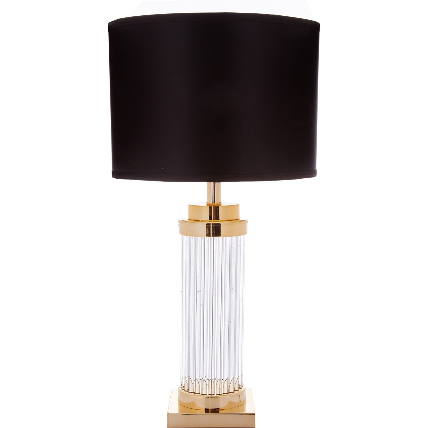 Black U0026 Gold Tone Large Crystal Table Lamp   TK Maxx