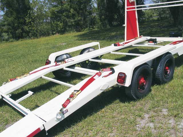 Open Race Car Trailer Tie Downs