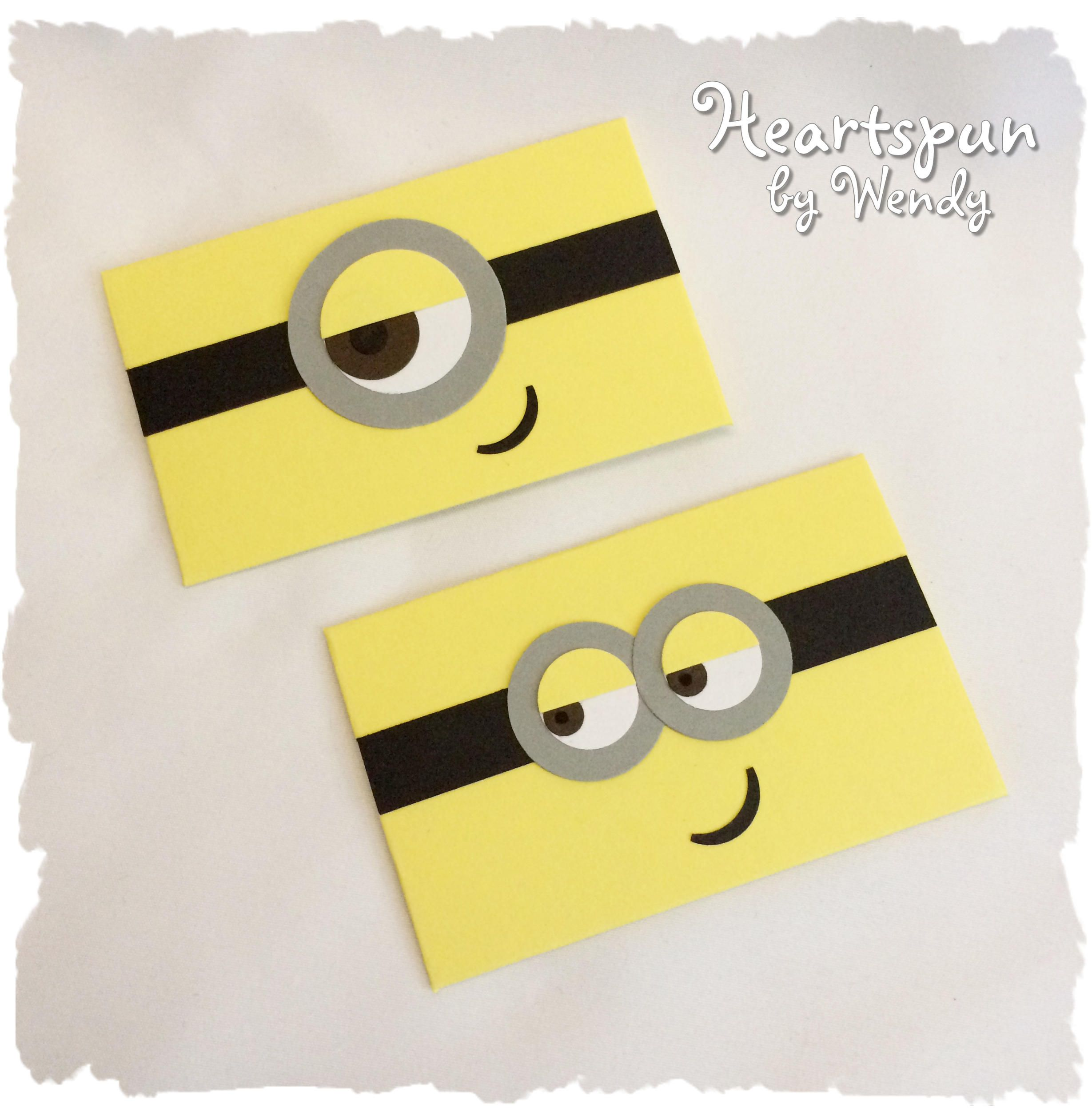 Set Of 2 Minion Gift Card Holders With Note Card Birthday Etsy In 2021 Gift Card Holder Christmas Gift Card Minion Gifts