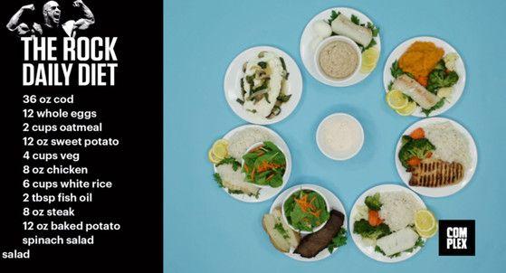 dwayne johnsons food diet