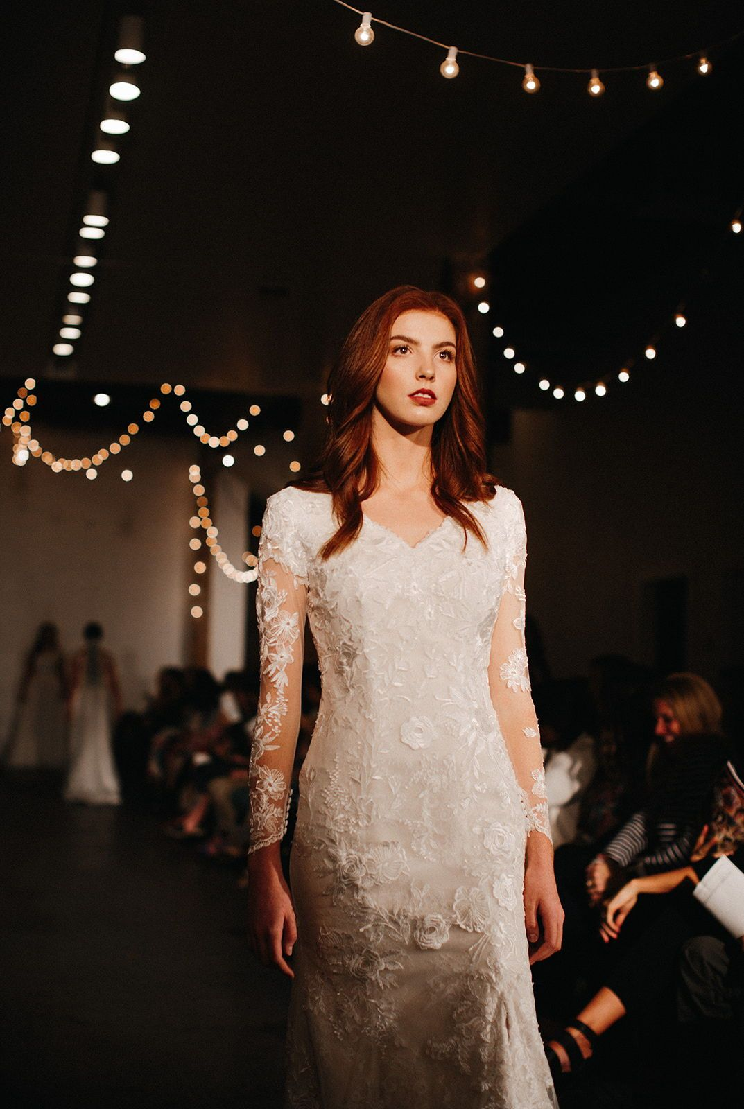 Our New Line Is Simply Stunning Walking The Runway At Utah Fashion Week Looking For Your Drea Designer Wedding Gowns Wedding Dresses Dream Wedding Dresses