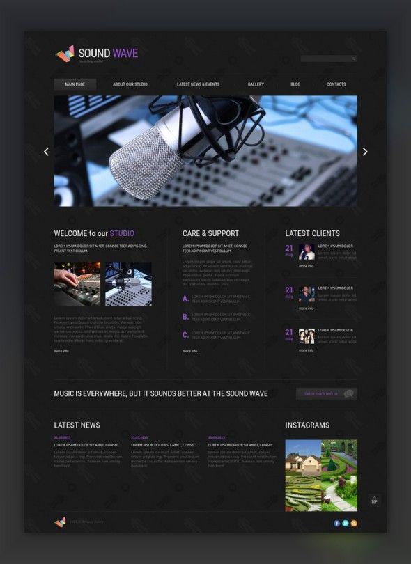 Recording Studio Responsive Joomla Template CMS  Blog Templates