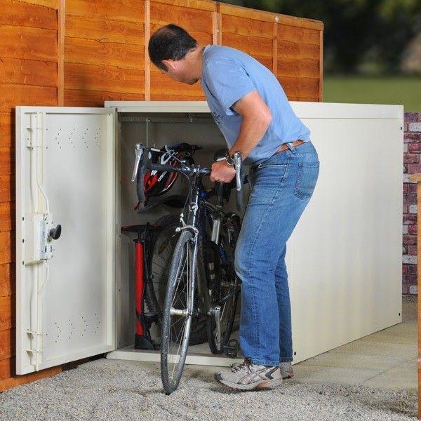 Asgard Metal Security Shed Twin Bike Locker Outdoor Bicycle