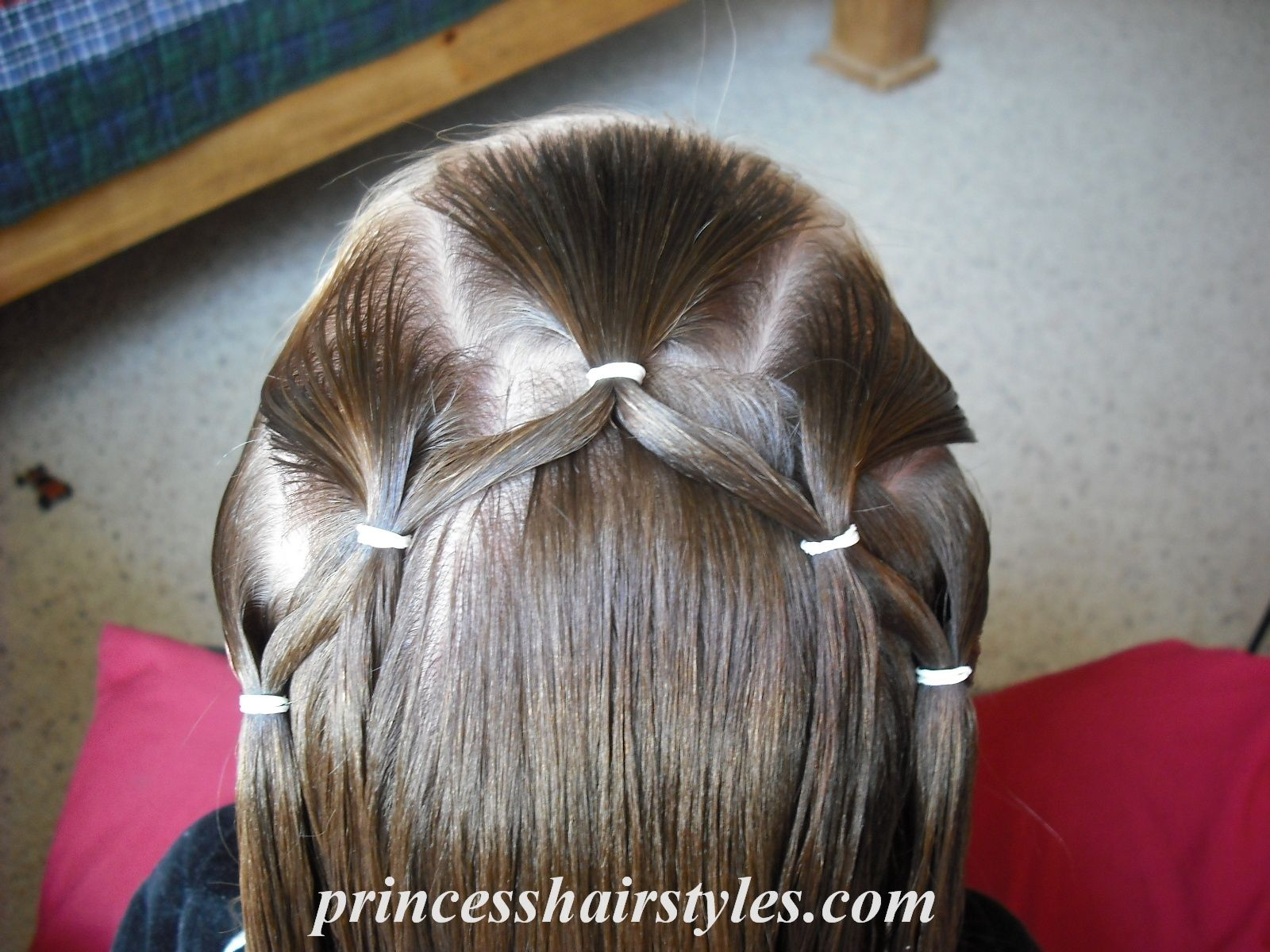 Flower girl hairstyle aliyaus hair ideas pinterest princess