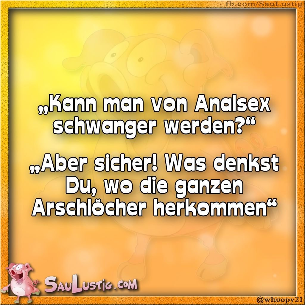 Analsex Witze