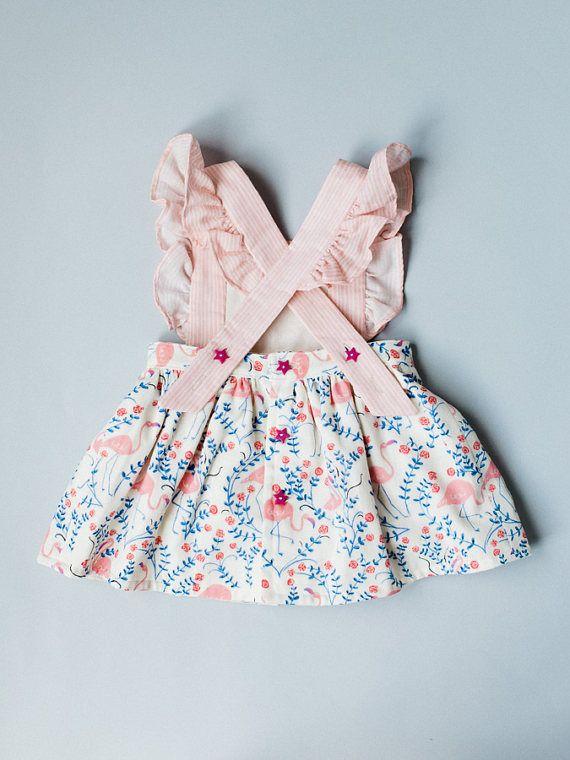 b9907ebf9e43 Toddler Pinafore Dress Toddler Dress Vintage Girls