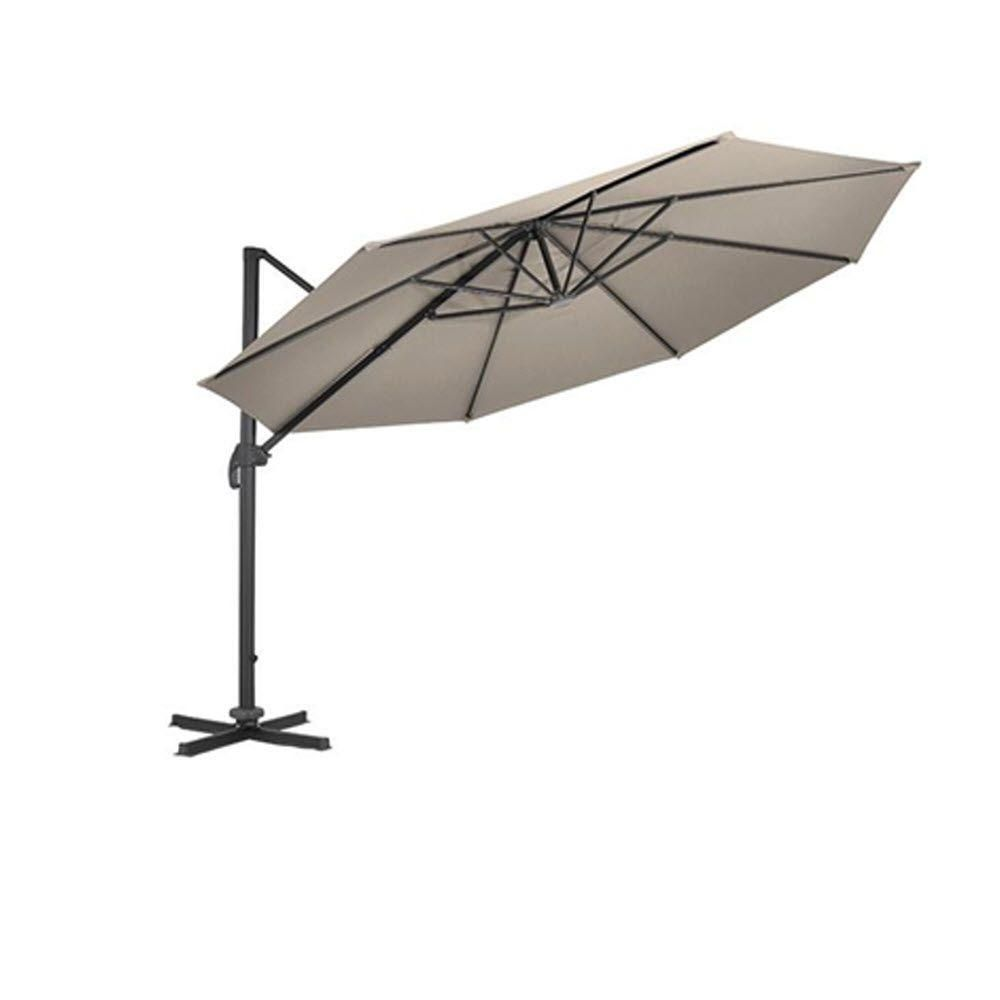 Home Decorators Collection 12 ft. Cantilever Umbrella Base in Smoke ...