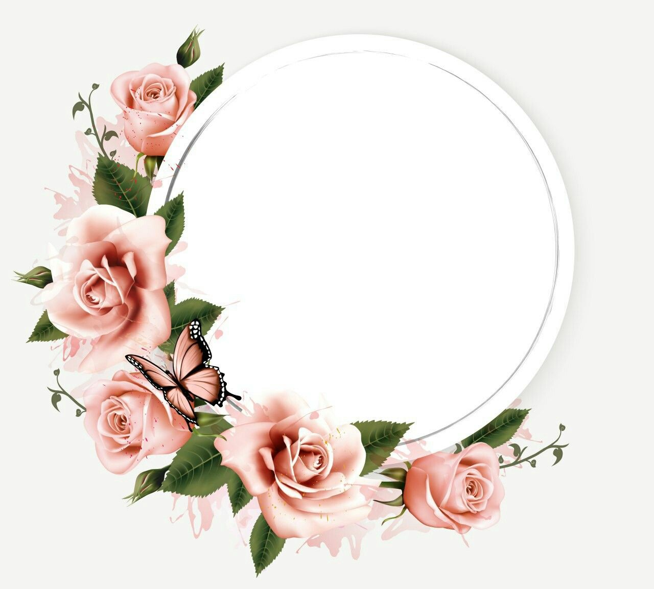 Aazaish Cakez 꽃 프레임 꽃 수채화 아이디어