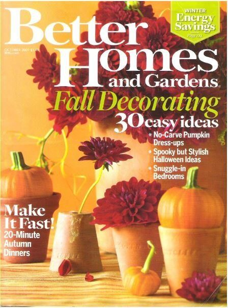 Better Homes And Gardens Fall Decorating October 2007