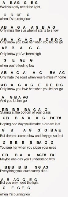 Let Her Go Musical Pinterest Music Flute Sheet Music And