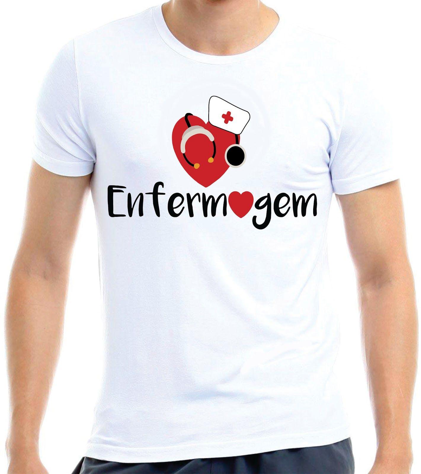 deae8f9040899 Estampa Criativa - Curso Enfermagem Camiseta Enfermagem