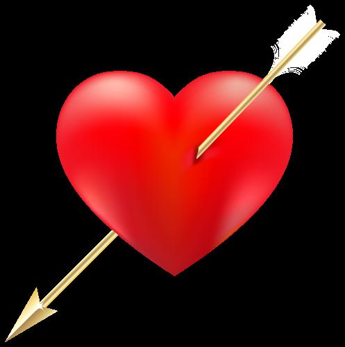 Red Heart With Arrow Heart With Arrow Red Heart Clip Art