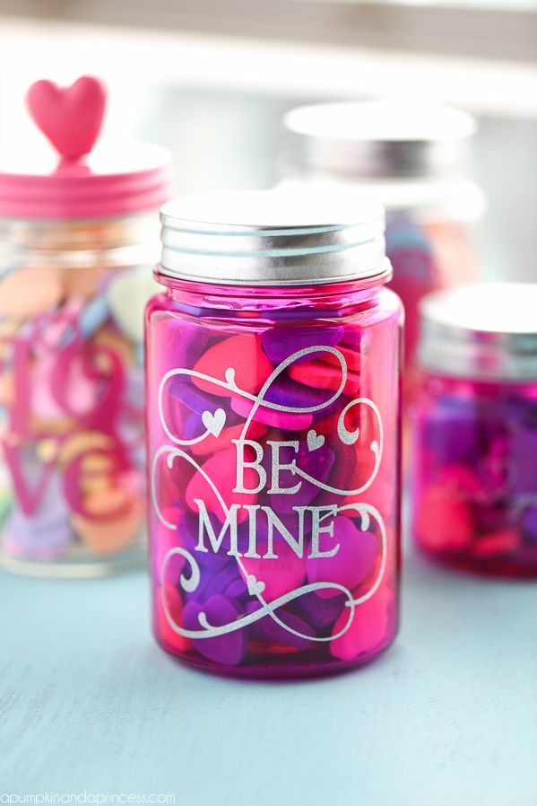 valentine's day mason jar gifts - a pumpkin and a princess, Ideas