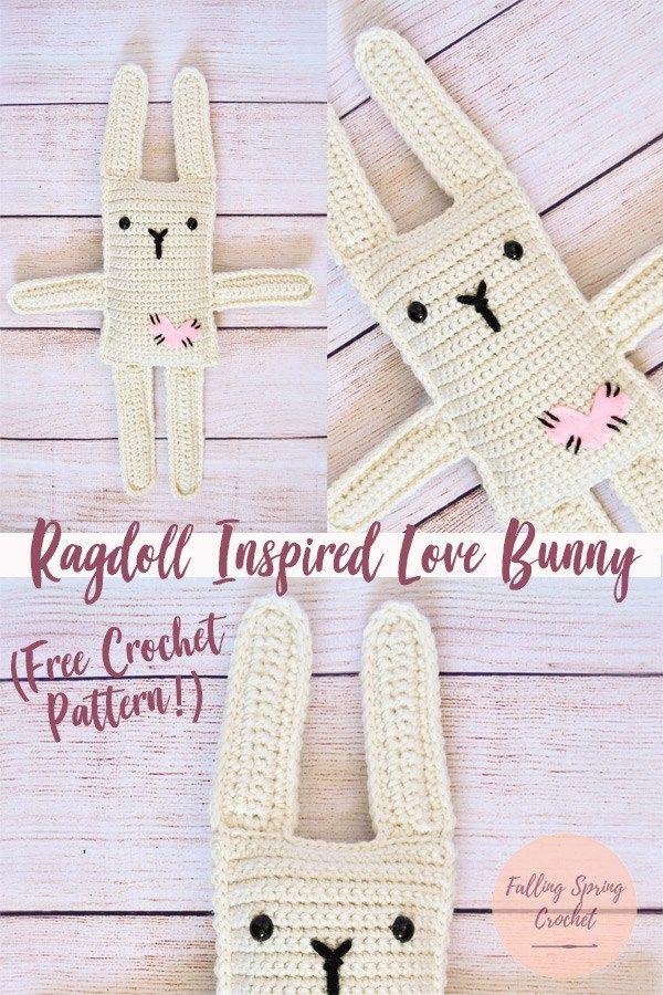 Ragdoll Inspired Love Bunny Crochet Pattern FREE | Crochet ...