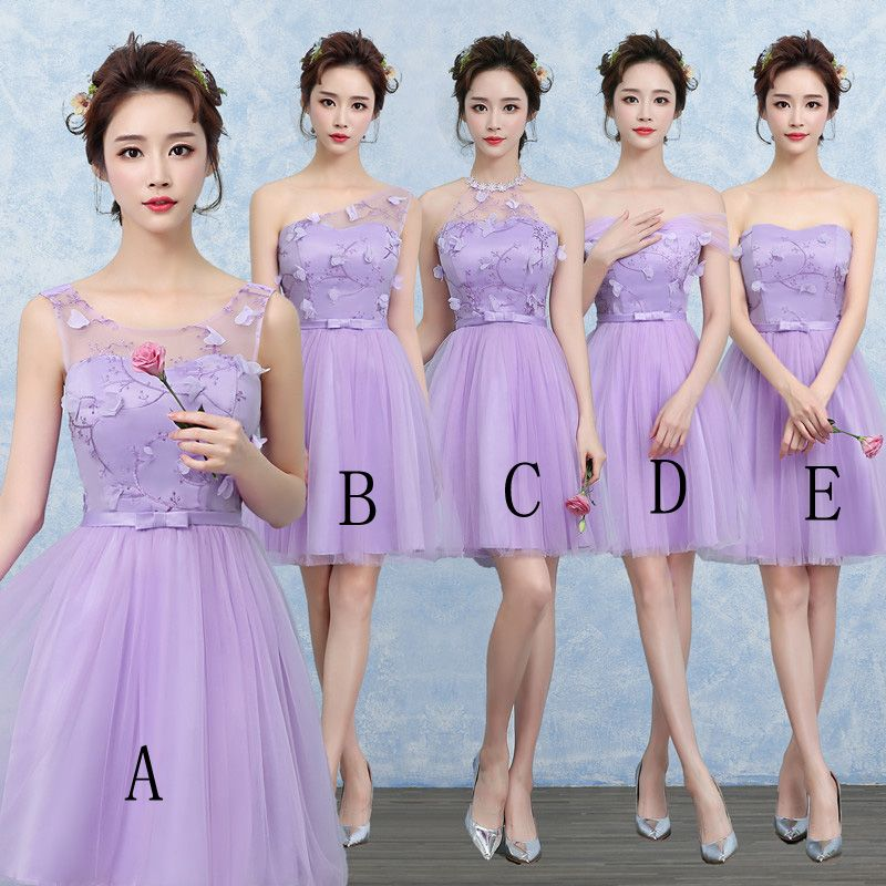 Cute Gauze Bridesmaid Wedding Dress Party Prom Gown | Women Clothing ...