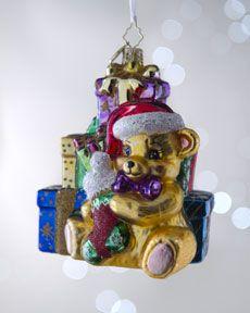 "H5LXX Christopher Radko ""Bountiful Bear"" 1st Christmas Ornament"