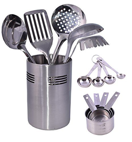 Cuissentials 14 Piece Stainless Steel Kitchen Tools With 5 Cooking