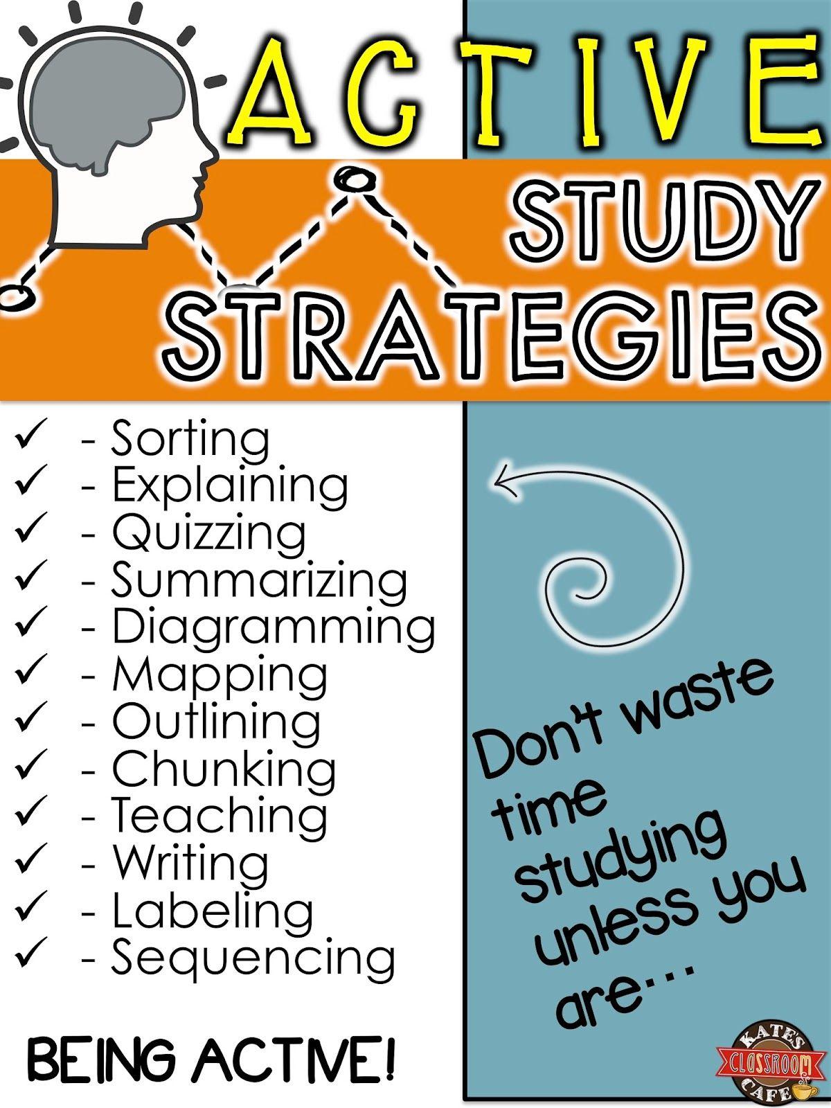 Active Study Strategies My Classroom Study Strategies