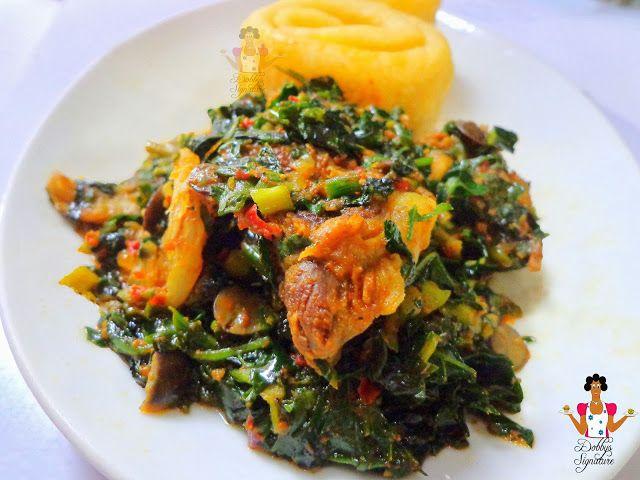 Vegetable soup efo riro recipe frica y negro dobbys signature nigerian food blog nigerian food recipes african food blog vegetable forumfinder Images