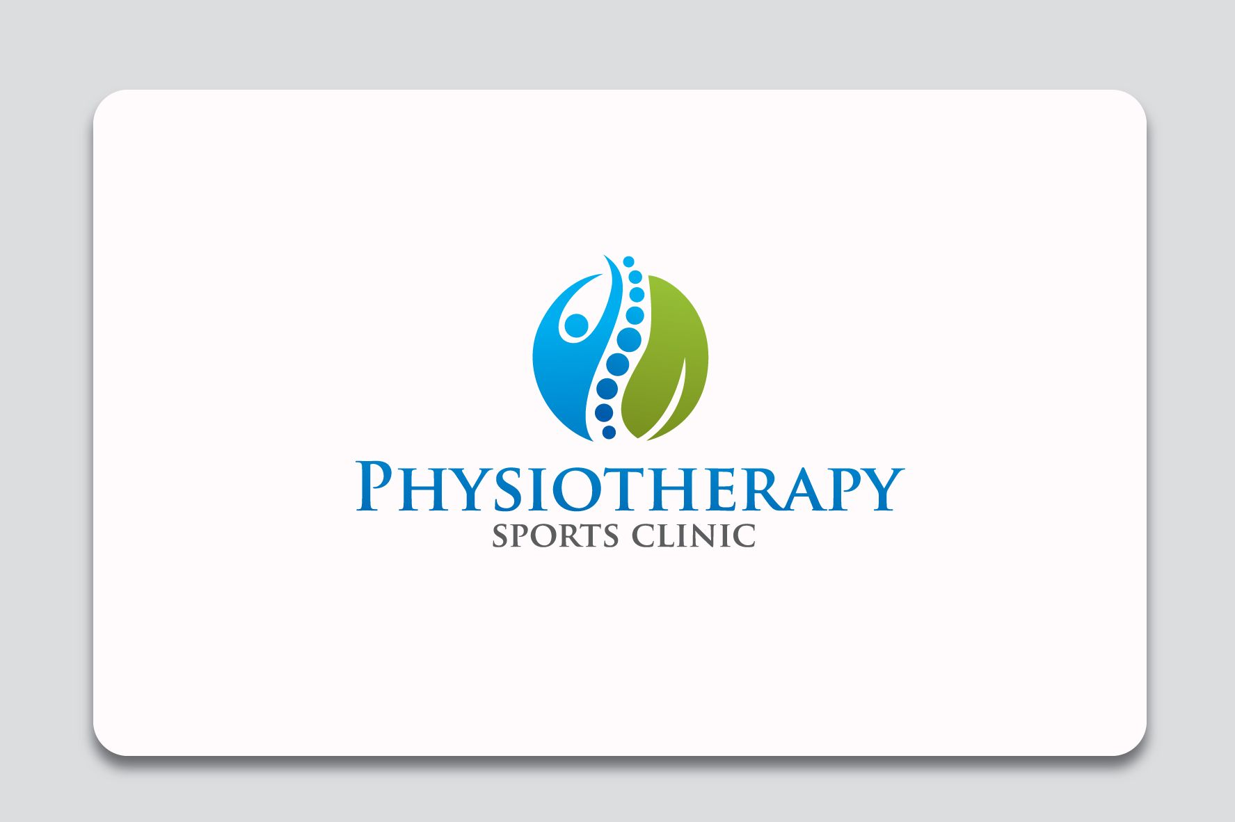 physiotherapy sports clinic logo graphic design