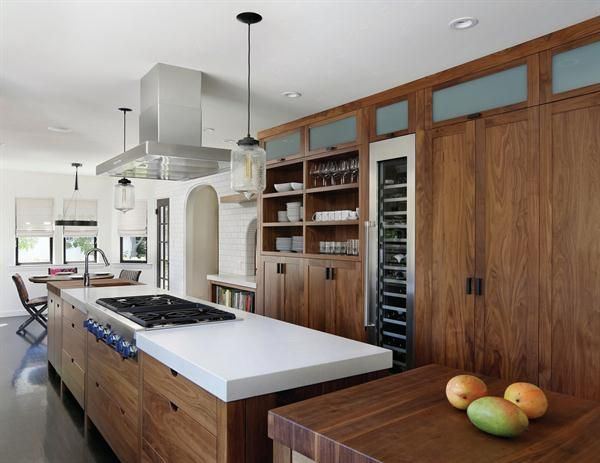 Designer Trg Architects Specced A Slim 30 Inch Wide Kitchen Island With Plenty Of Storage And Rolling Worktable At One End