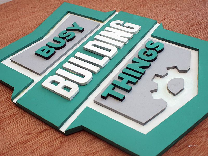 Woodcut Sign #logo #design #inspiration #dribbble