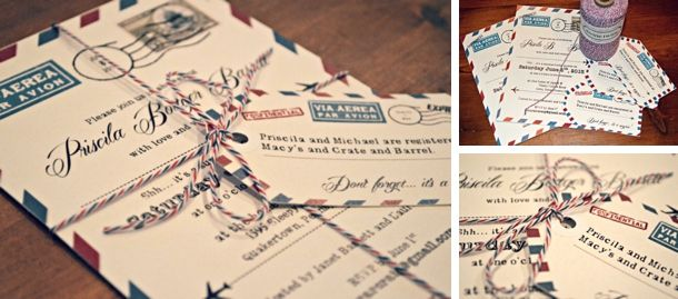 Genial Travel Themed Wedding Invitations