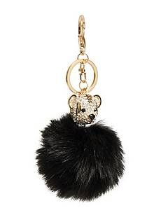 dcee21182ff73 Bear Pom Keychain | GUESS.com | jewelry | Accessories, Bag ...