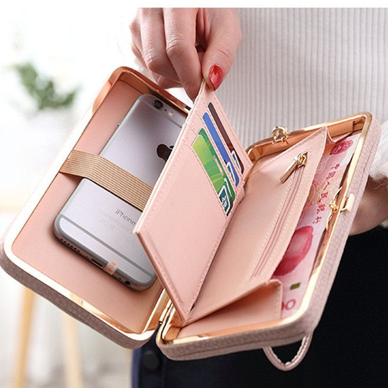 promo code 50276 e2b88 PU Leather Women's Purse Clutch Wallet Cell Phone Case | Premium ...