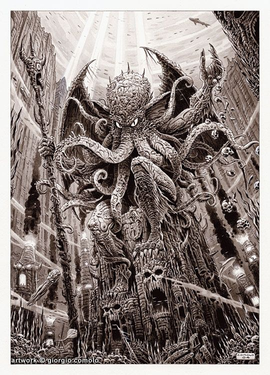 Cthulhu, in Rob Militzer's Commissions! Comic Art Gallery Room