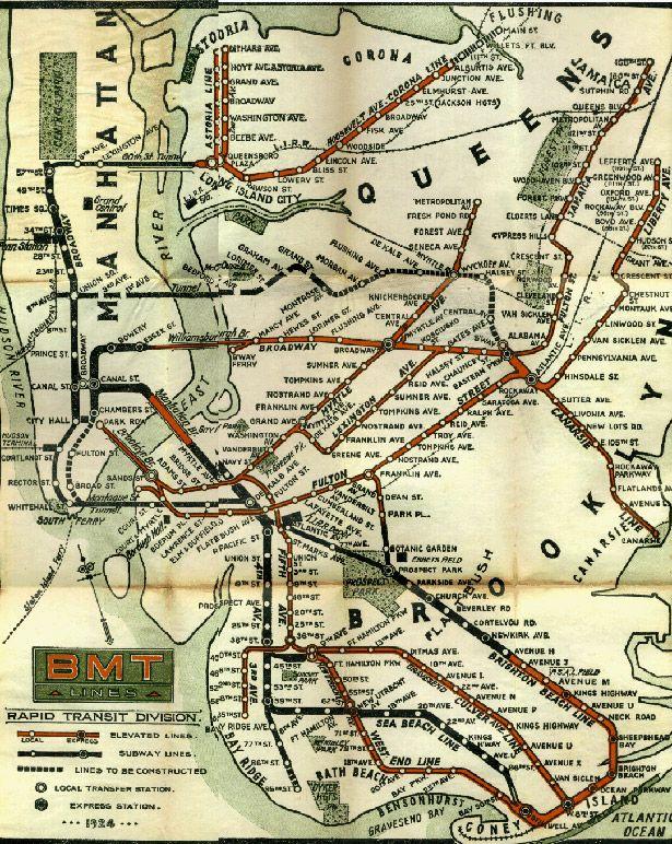 Historic New York Subway Maps | TheWallBreakers | Pinterest | Subway map