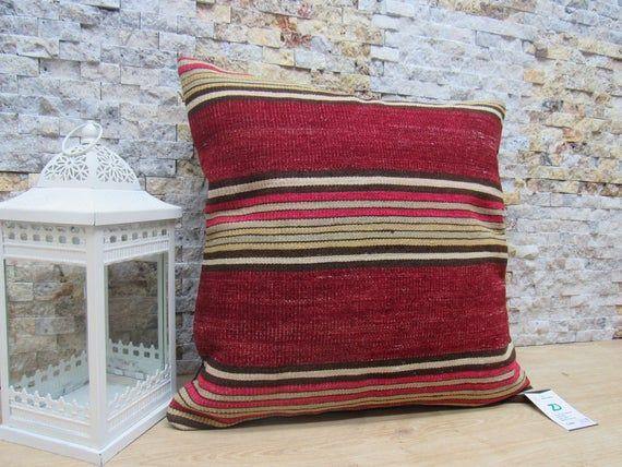 decorative pillow / home decor pillow / turkish pillow / 20x20 throw pillow / floor cushion / nature