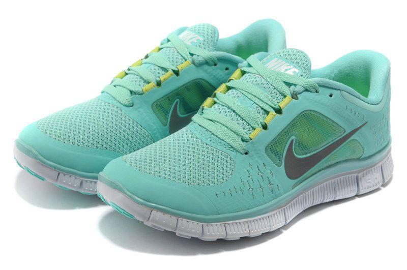 Nike free run 5.0 mint green, Women's Fashion, Shoes on