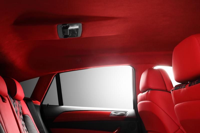 Crazy Interior For Bmw X6 From Topcar Red And Black Grey Shifter