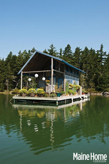 Best of 2014: Maine floating cabin is 240 square feet of heaven | Spaces - Yahoo Homes
